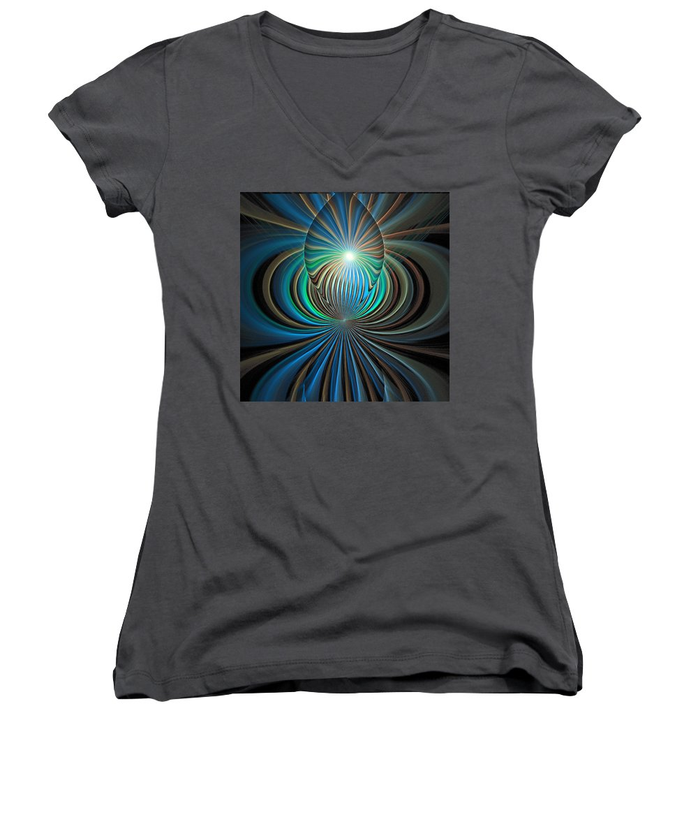 Digital Art Women's V-Neck (Athletic Fit) featuring the digital art Namaste by Amanda Moore