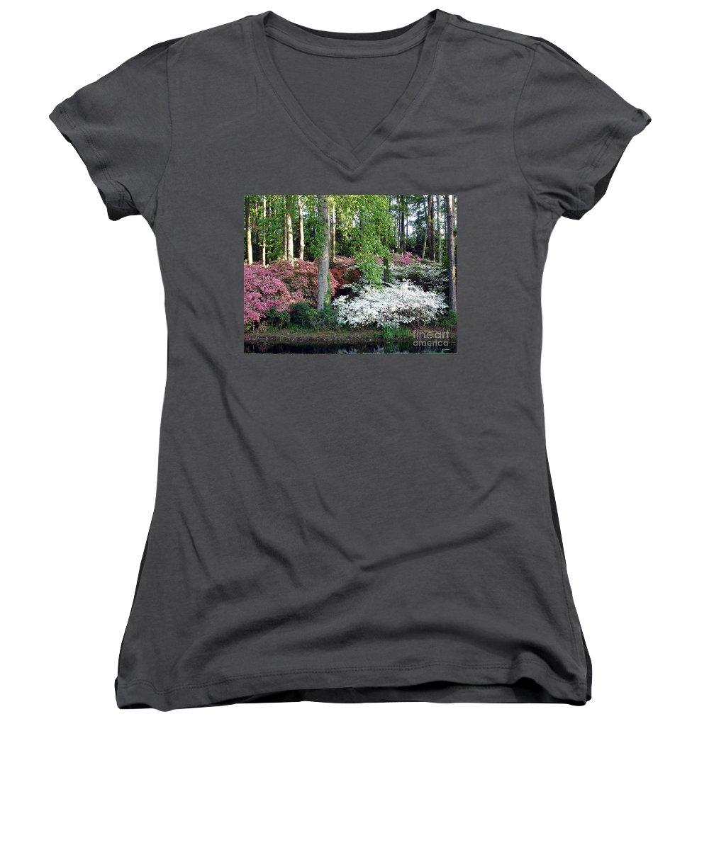 Landscape Women's V-Neck T-Shirt featuring the photograph Nature 2 by Shelley Jones