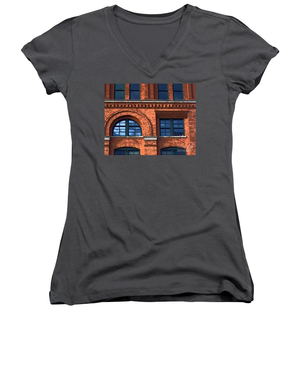 6th Floor Museum Women's V-Neck (Athletic Fit) featuring the photograph Never Forget Jfk by Debbi Granruth