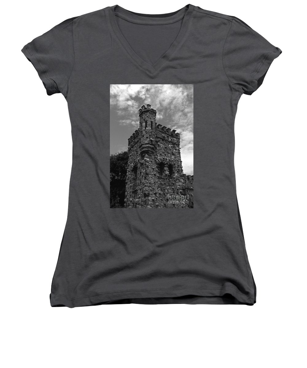 Castle Women's V-Neck T-Shirt featuring the photograph Once Upon A Time by Richard Rizzo