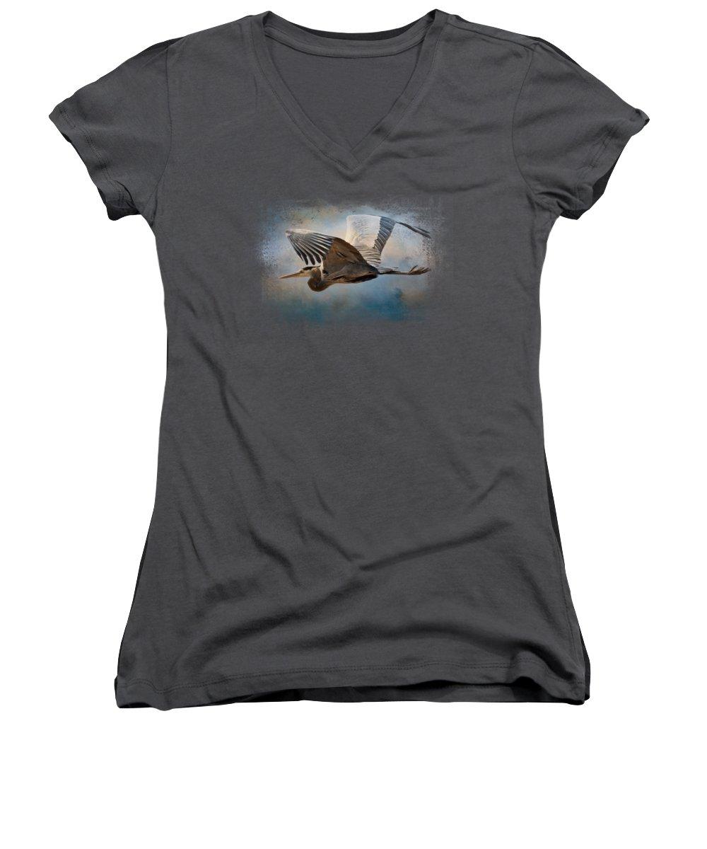 Heron Junior V-Neck T-Shirts
