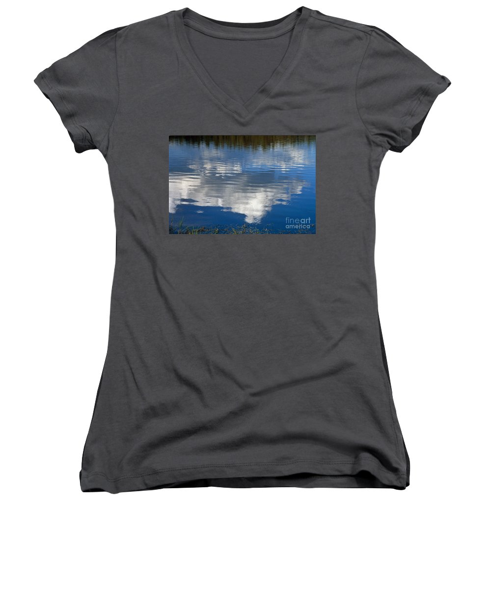 Landscape Women's V-Neck (Athletic Fit) featuring the photograph Peace by Kathy McClure