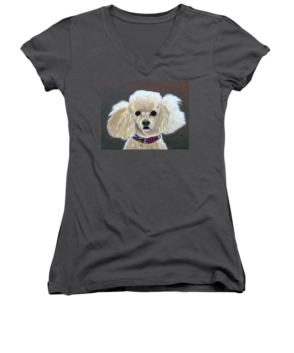 Dog Women's V-Neck (Athletic Fit) featuring the painting Pebbles by Stan Hamilton