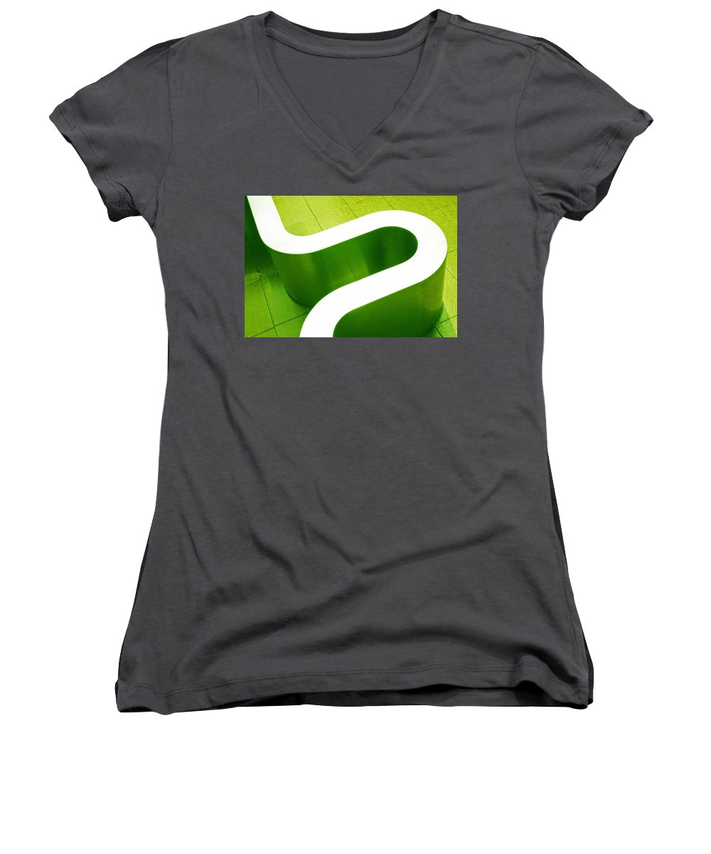 Abstract Women's V-Neck (Athletic Fit) featuring the photograph Pharmacia by Skip Hunt