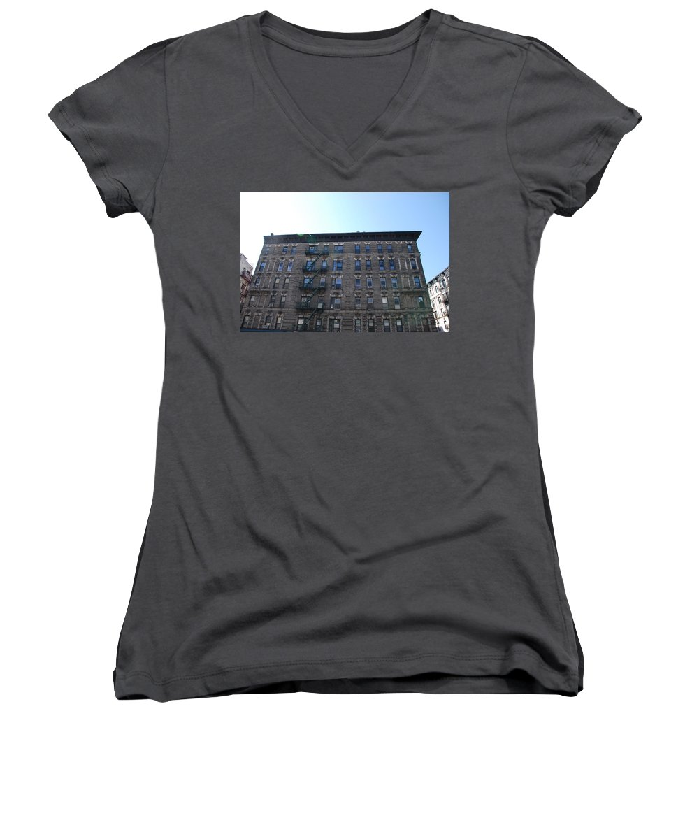 Architecture Women's V-Neck (Athletic Fit) featuring the photograph Physical Graffitti by Rob Hans