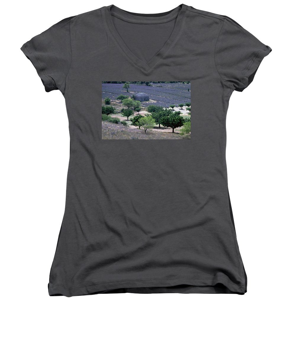 Provence Women's V-Neck (Athletic Fit) featuring the photograph Provence by Flavia Westerwelle
