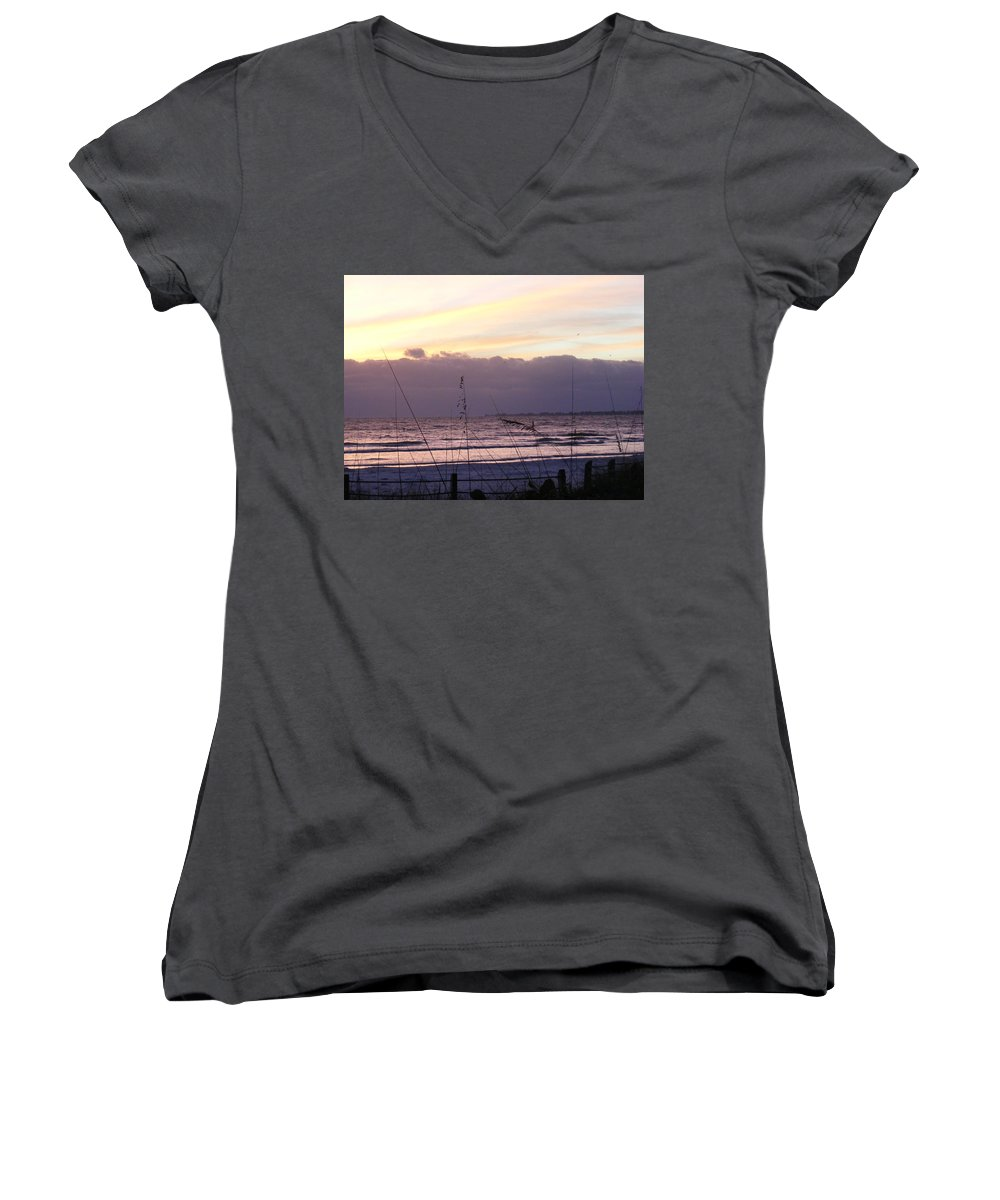 Landscape Women's V-Neck T-Shirt featuring the photograph Purple Haze by Ed Smith