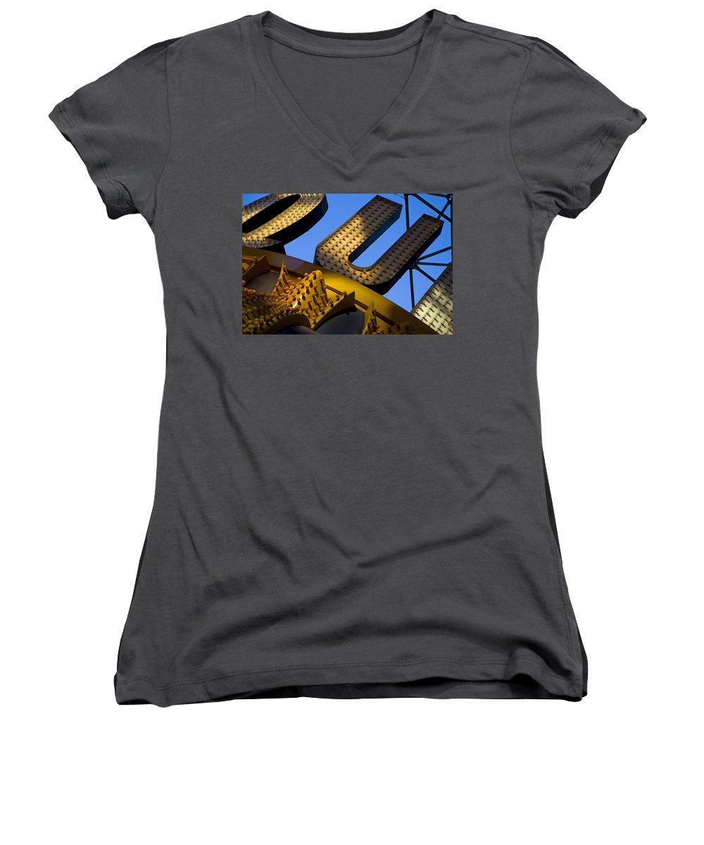 Architecture Women's V-Neck (Athletic Fit) featuring the photograph Queen Of Hearts by Skip Hunt