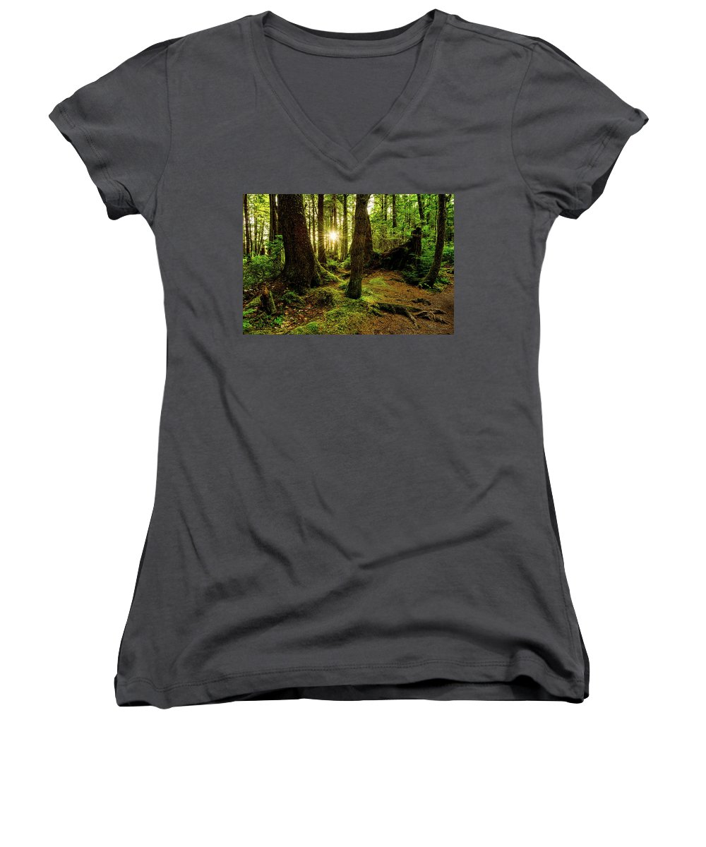 Olympic National Park Women's V-Neck T-Shirts