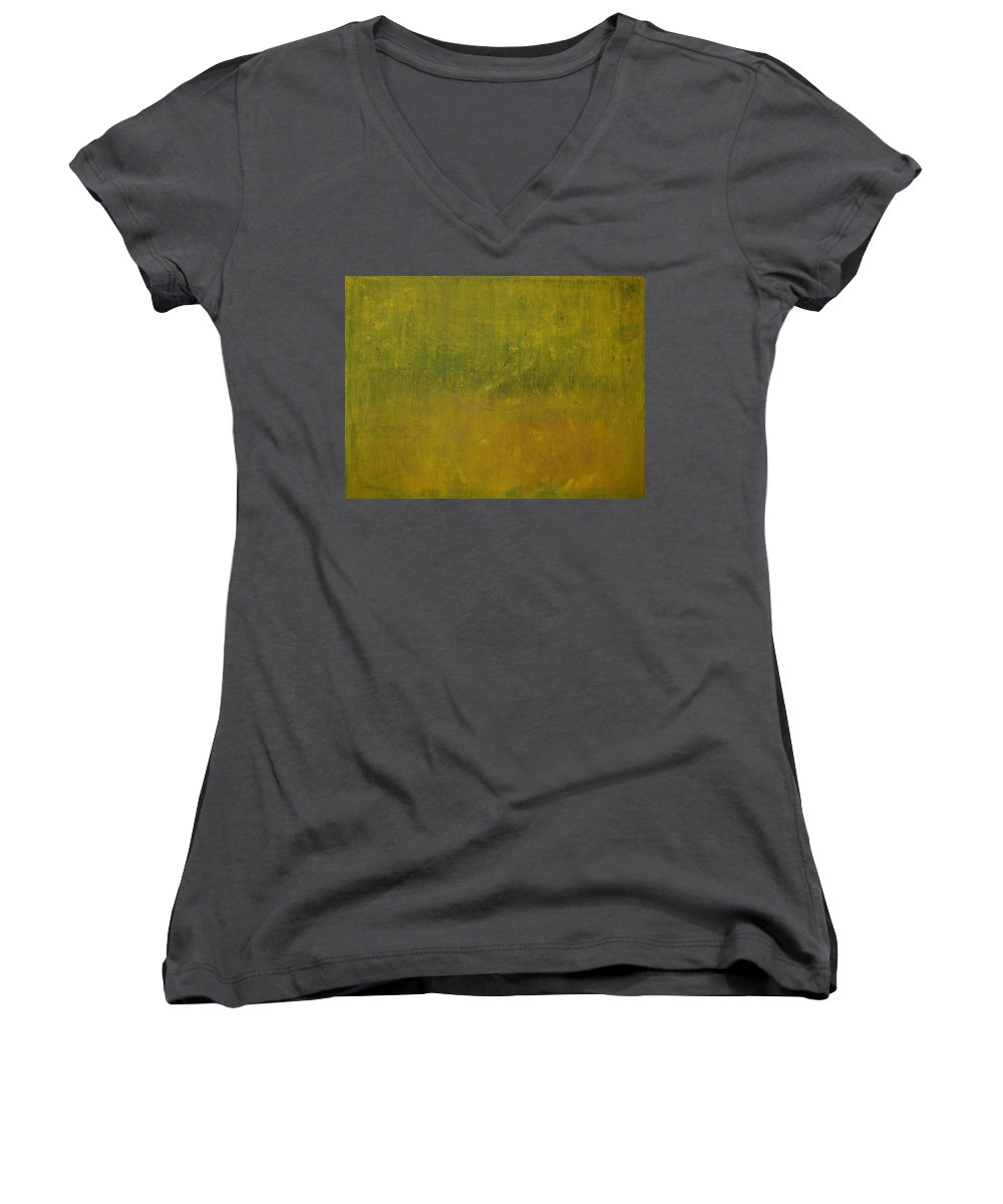 Jack Diamond Women's V-Neck T-Shirt featuring the painting Reflections Of A Summer Day by Jack Diamond