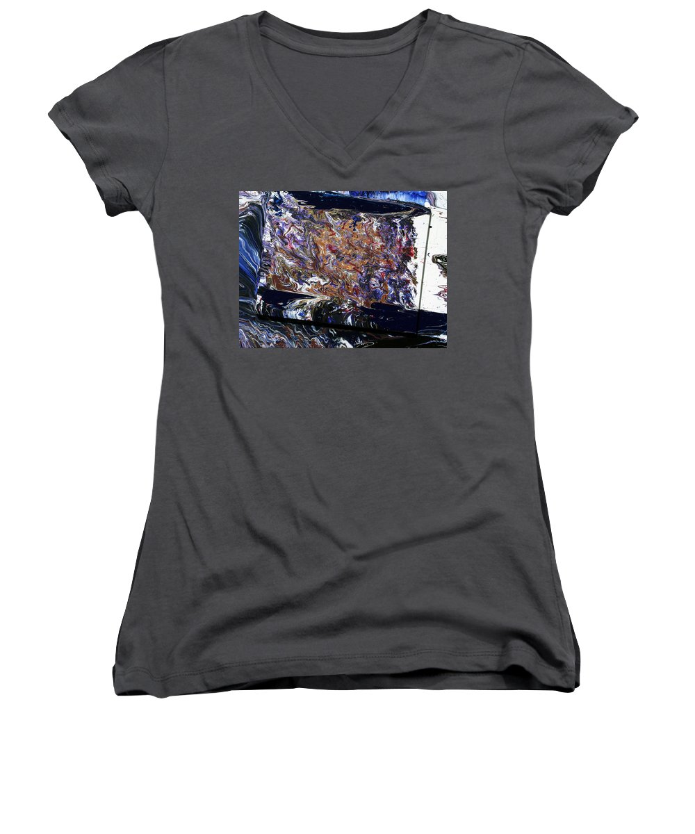 Fusionart Women's V-Neck (Athletic Fit) featuring the painting Revolution by Ralph White