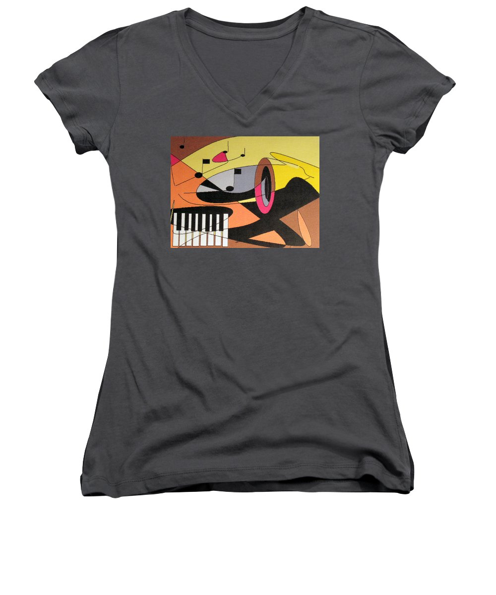Music Women's V-Neck (Athletic Fit) featuring the digital art Rhapsody by Ian MacDonald