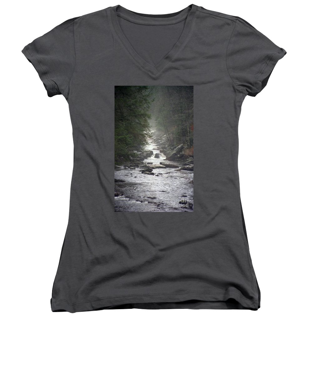 River Women's V-Neck (Athletic Fit) featuring the photograph River Run by Richard Rizzo