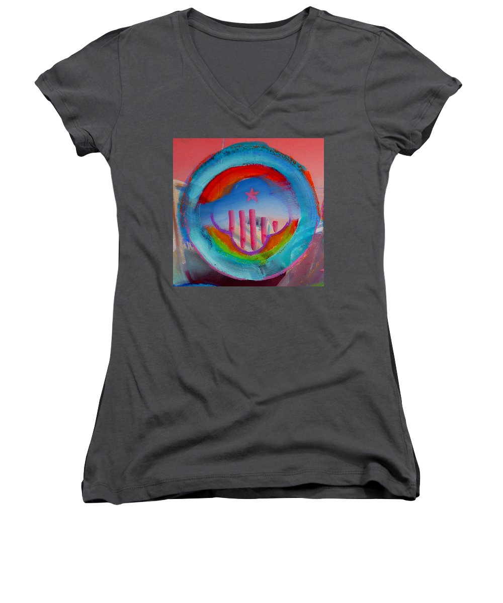 Logo Women's V-Neck (Athletic Fit) featuring the painting Ship Of State by Charles Stuart