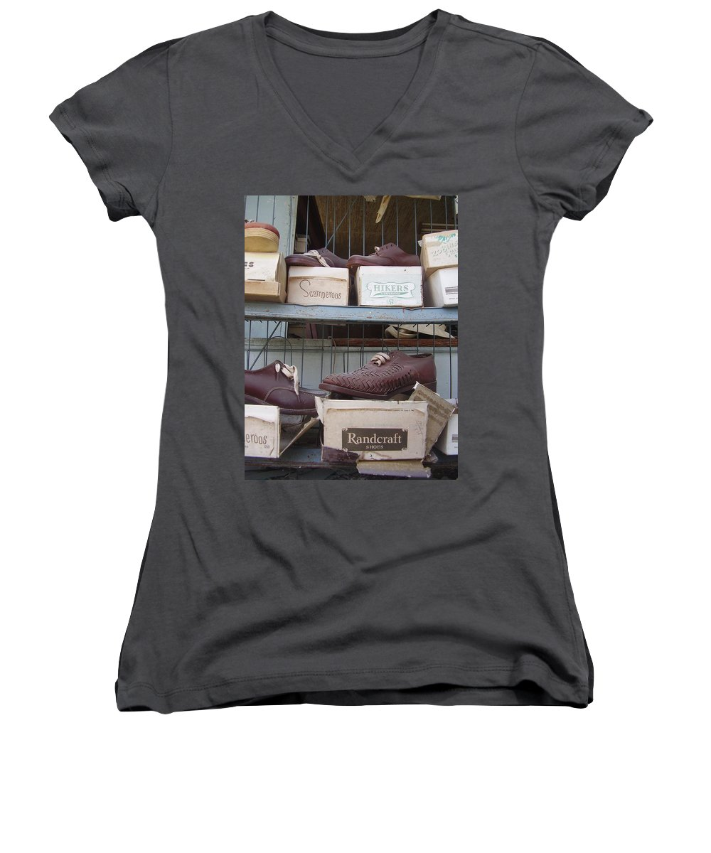 Shoes Women's V-Neck (Athletic Fit) featuring the photograph Shoes by Flavia Westerwelle
