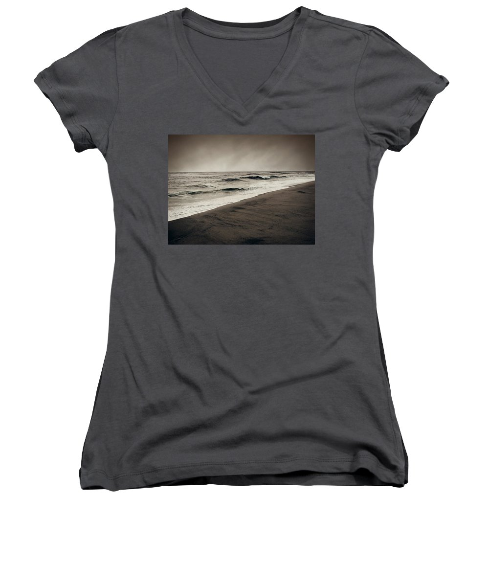 Ocean Women's V-Neck (Athletic Fit) featuring the photograph Spending My Days Escaping Memories by Dana DiPasquale