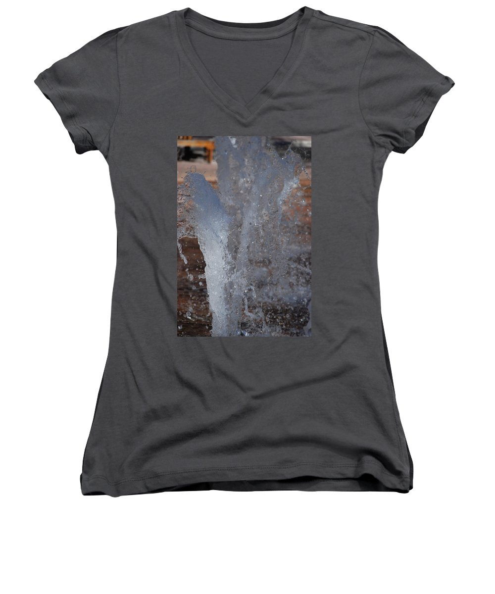 Water Women's V-Neck (Athletic Fit) featuring the photograph Splash by Rob Hans