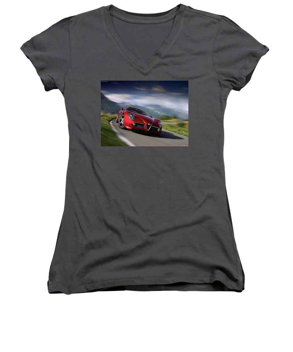 Sport Women's V-Neck featuring the photograph Sport by Jackie Russo