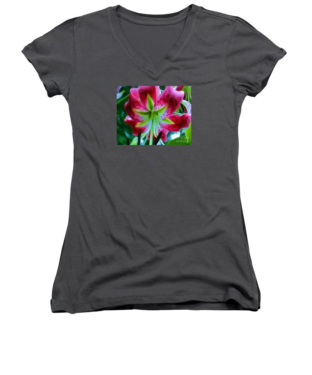 Fine Art Photography Women's V-Neck (Athletic Fit) featuring the photograph Stargazer by Patricia Griffin Brett