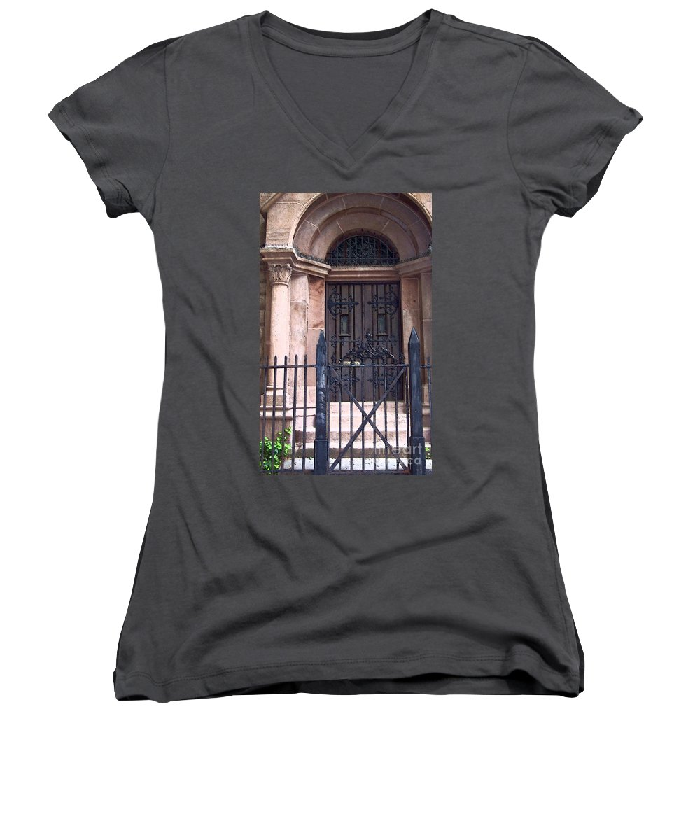 Church Women's V-Neck (Athletic Fit) featuring the photograph Sunday by Debbi Granruth
