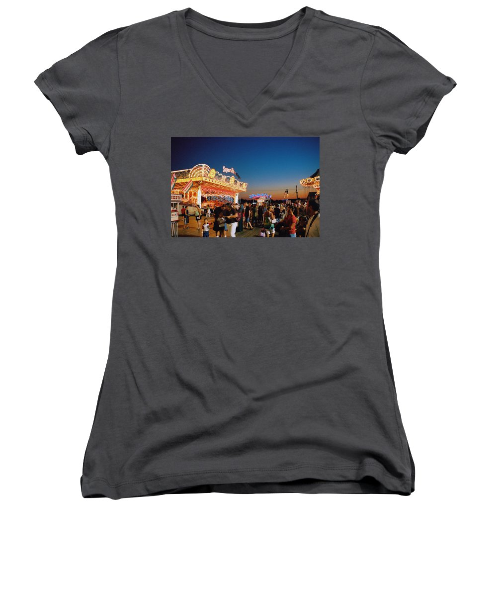 Board Walk Women's V-Neck T-Shirt featuring the photograph Super Himalaya by Steve Karol