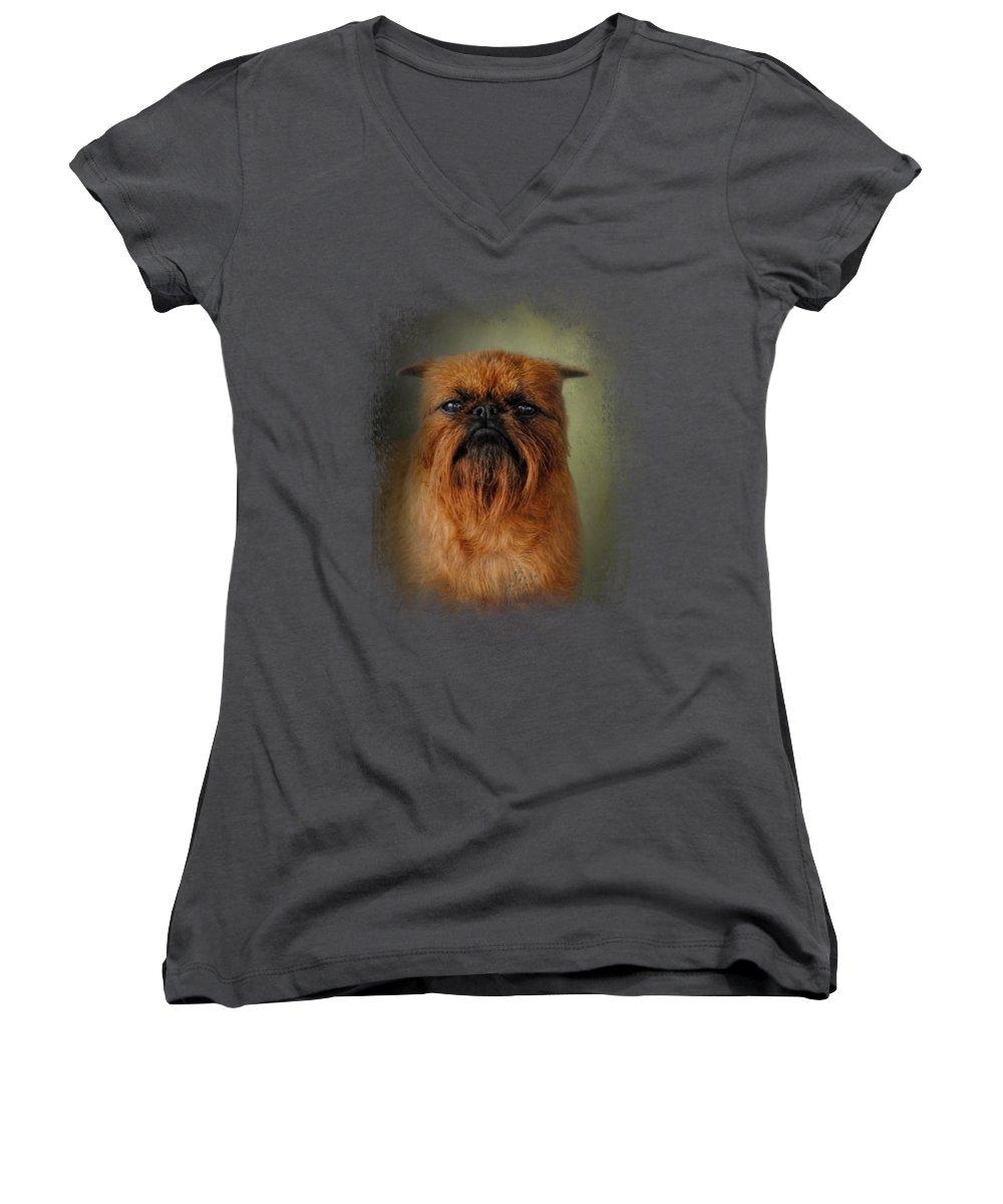 Griffon Women's V-Neck T-Shirts