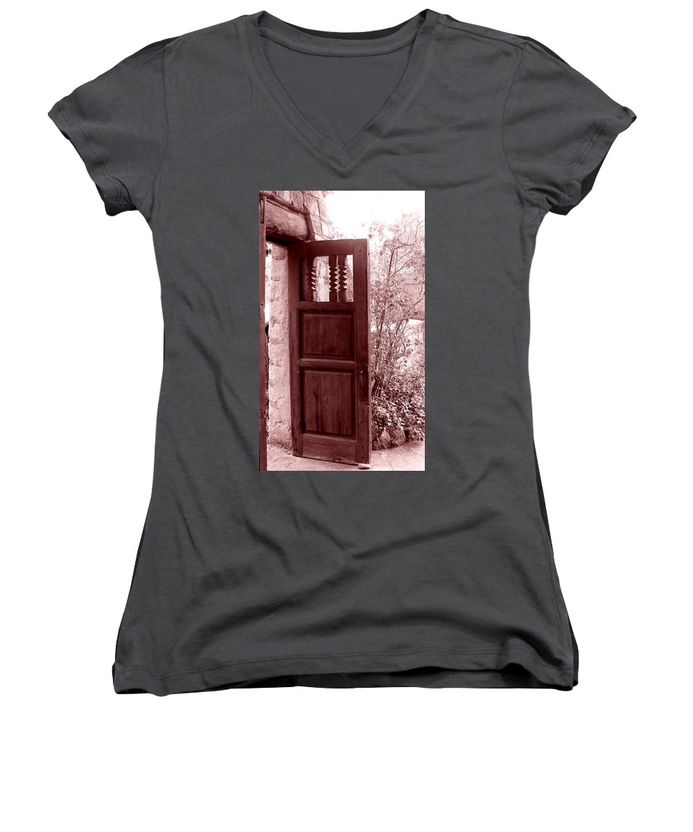 Door Women's V-Neck (Athletic Fit) featuring the photograph The Door by Wayne Potrafka