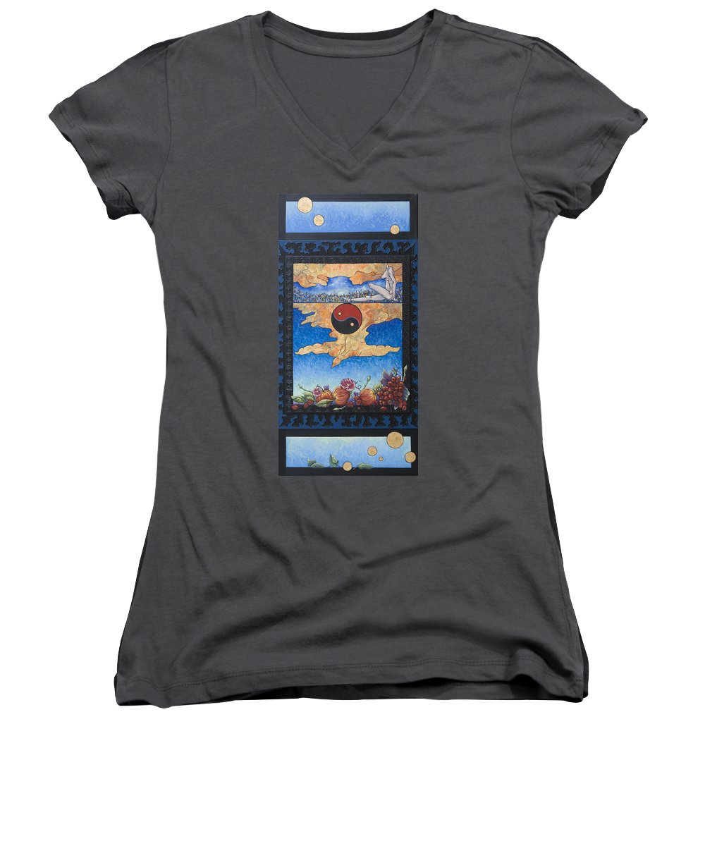 Karma Women's V-Neck (Athletic Fit) featuring the painting The Dream by Judy Henninger