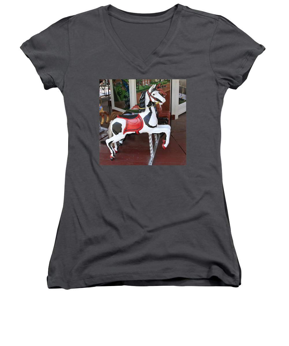 Horse Women's V-Neck T-Shirt featuring the photograph The Painted Horse by Robert Pearson