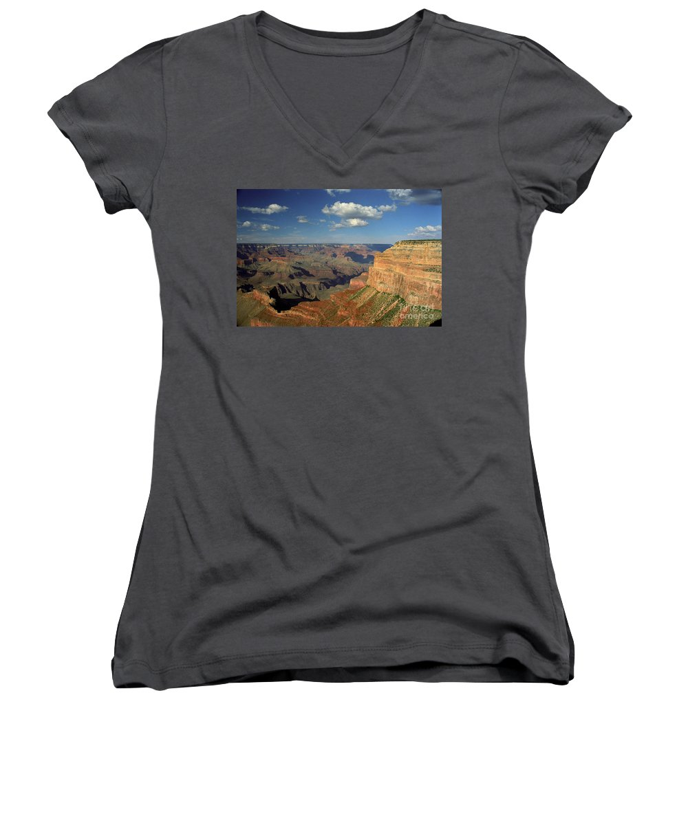 Grand Canyon Women's V-Neck (Athletic Fit) featuring the photograph This Is My Father's World by Kathy McClure