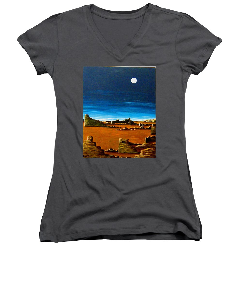 Anasazi Women's V-Neck (Athletic Fit) featuring the painting Timeless by Diana Dearen