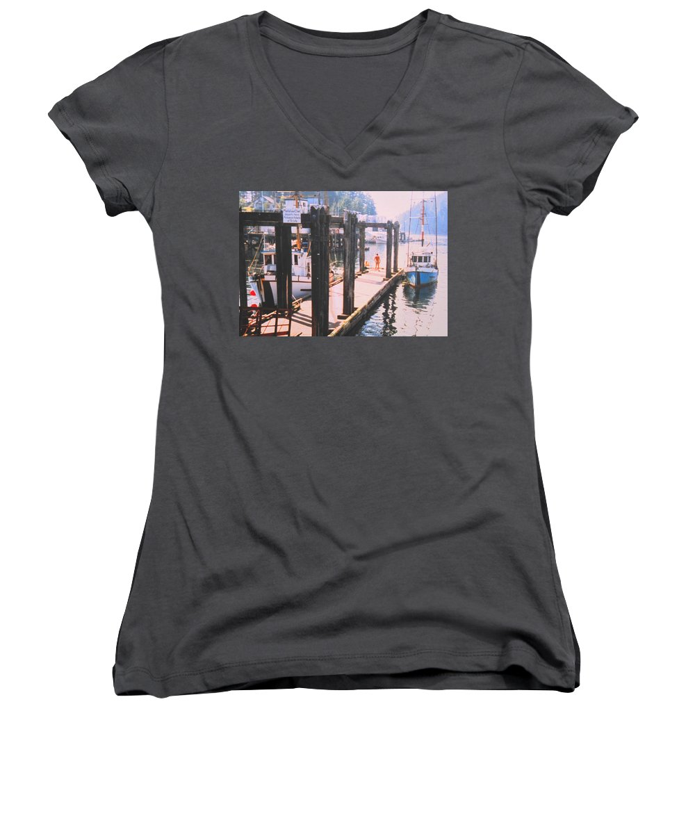 Tofino Women's V-Neck (Athletic Fit) featuring the photograph Tofino by Ian MacDonald