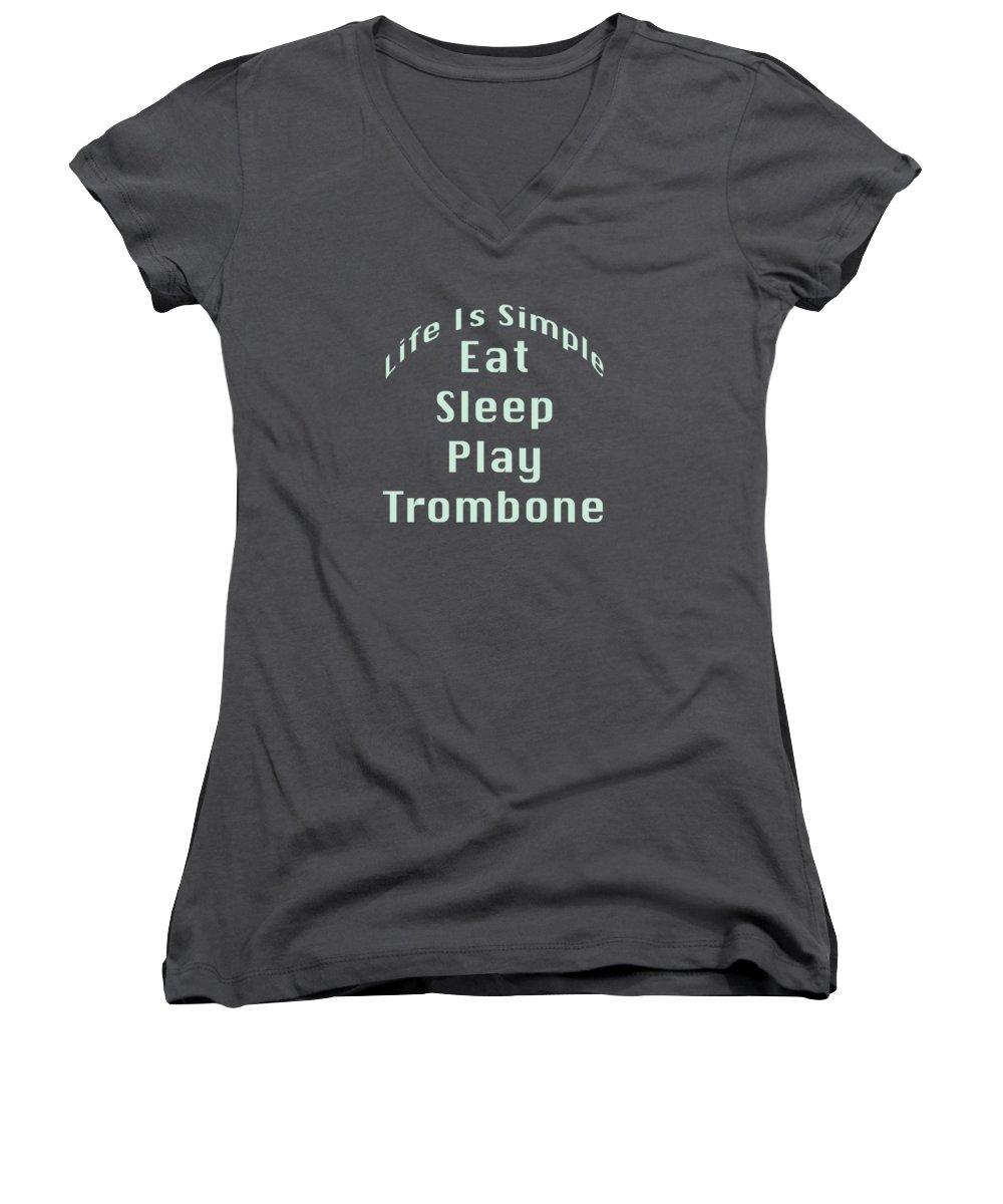 Trombone Women's V-Neck T-Shirts