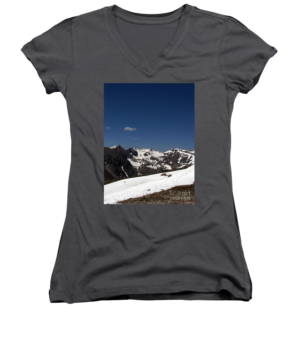 Colorado Women's V-Neck T-Shirt featuring the photograph Vast Mother by Amanda Barcon