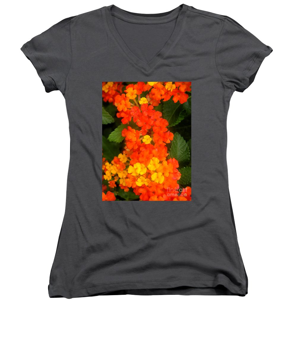 Nature Women's V-Neck (Athletic Fit) featuring the photograph Volcanic Display by Lucyna A M Green