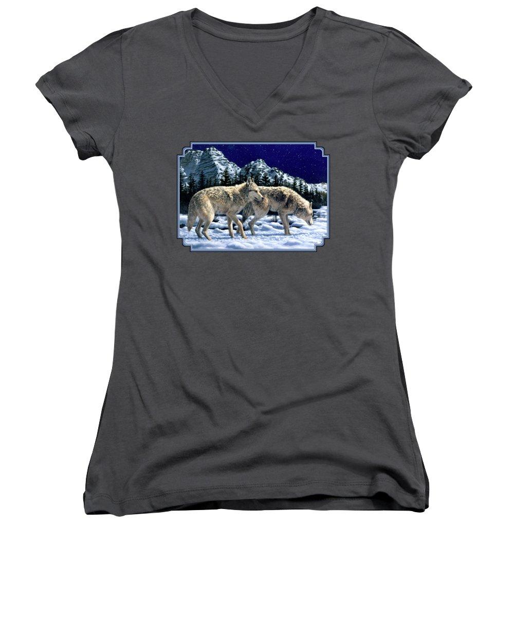 Wolf Junior V-Neck T-Shirts