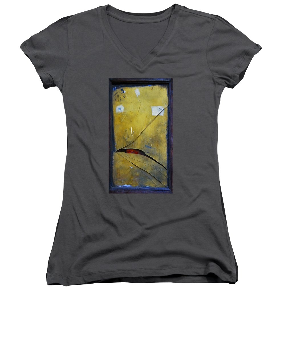 Abstract Women's V-Neck T-Shirt featuring the photograph Xalapa Miro by Skip Hunt