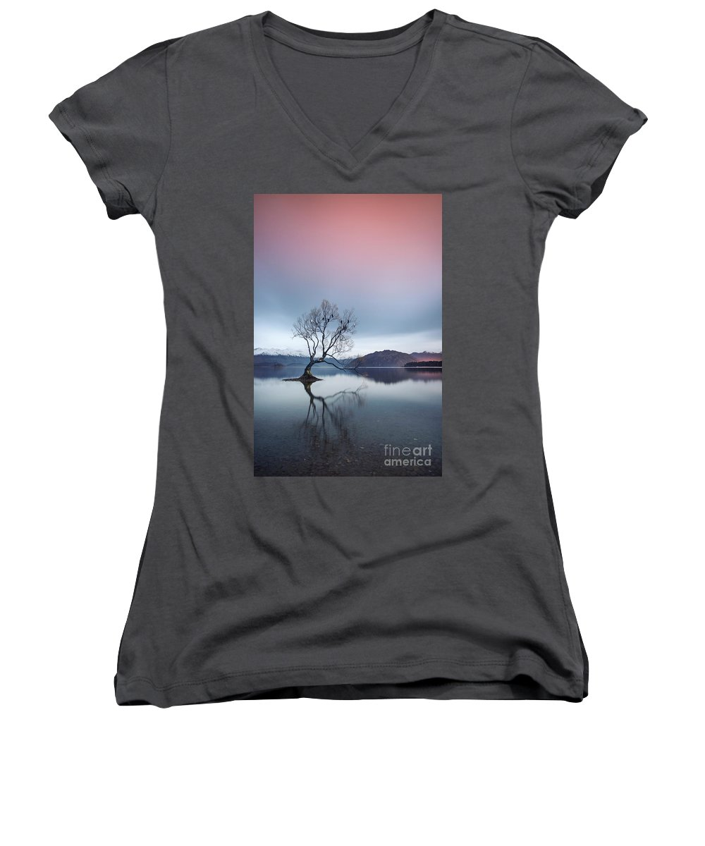 Kremsdorf Women's V-Neck featuring the photograph Bowing Down In Grace by Evelina Kremsdorf