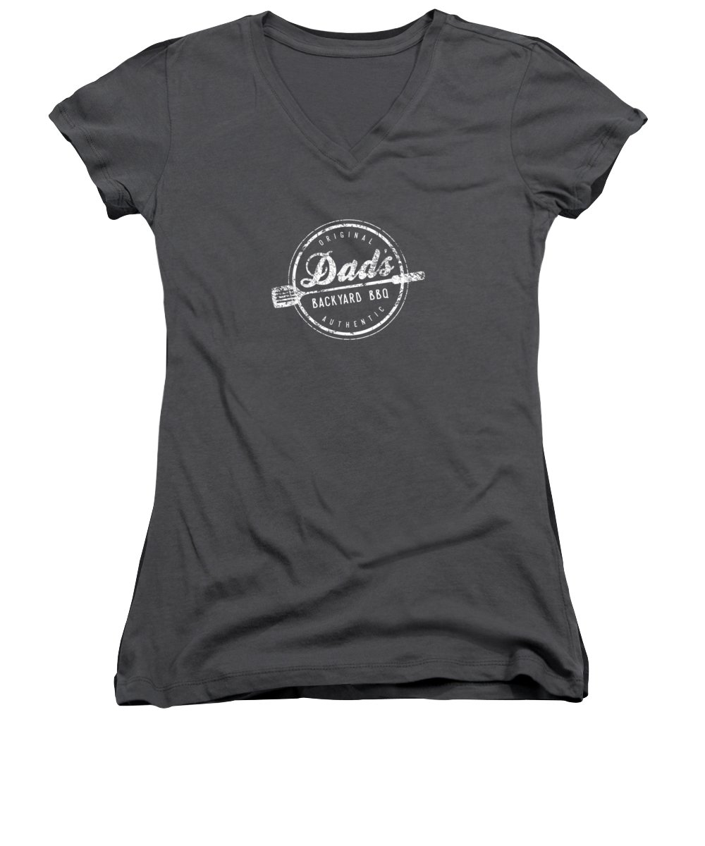 men's Novelty T-shirts Women's V-Neck featuring the digital art Mens Dads Backyard Bbq Shirt Grilling Cute Fathers Day Gift by Unique Tees