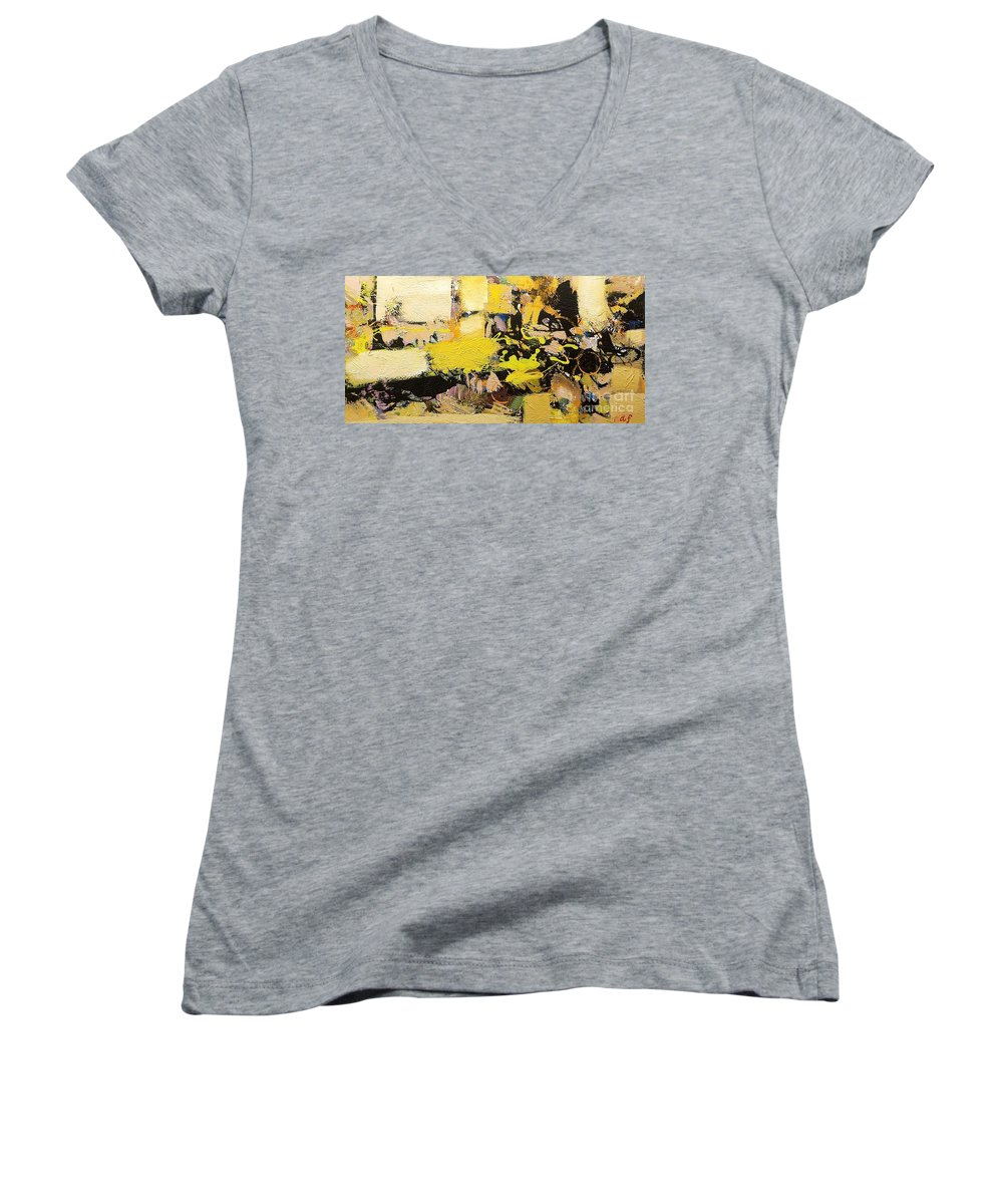 Landscape Women's V-Neck (Athletic Fit) featuring the painting Euclid by Allan P Friedlander