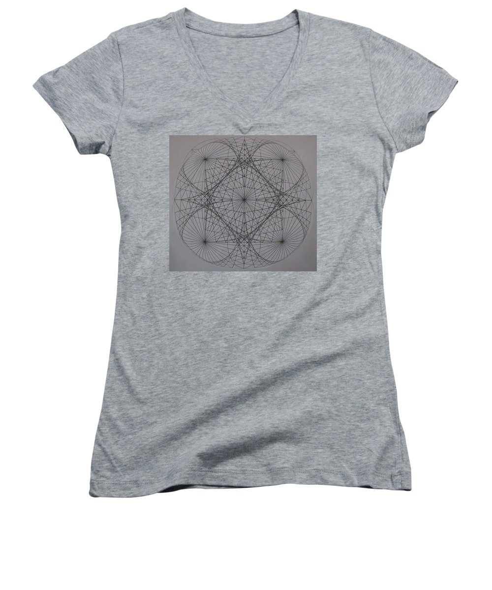 Event Horizon Women's V-Neck (Athletic Fit) featuring the digital art Event Horizon by Jason Padgett
