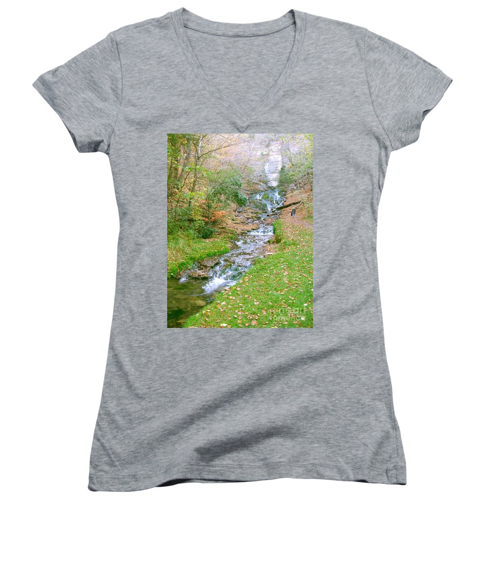 Springs Women's V-Neck (Athletic Fit) featuring the photograph Fall Springs by Minding My Visions by Adri and Ray