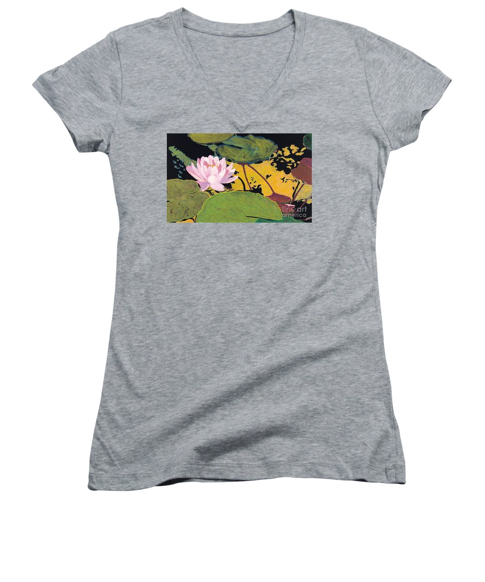 Landscape Women's V-Neck T-Shirt featuring the painting Georgia Summer by Allan P Friedlander