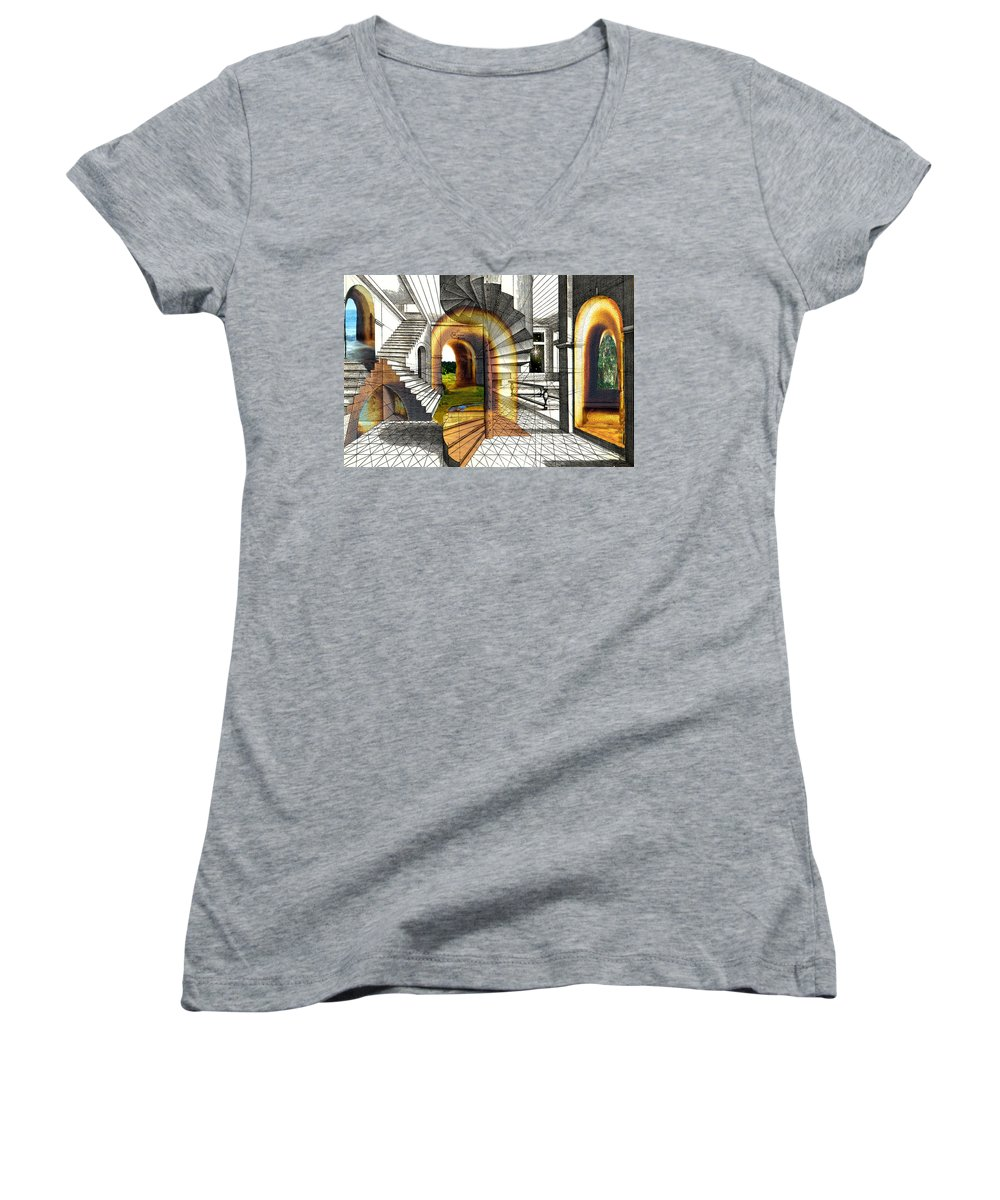 House Women's V-Neck (Athletic Fit) featuring the digital art House Of Dreams by Lisa Yount