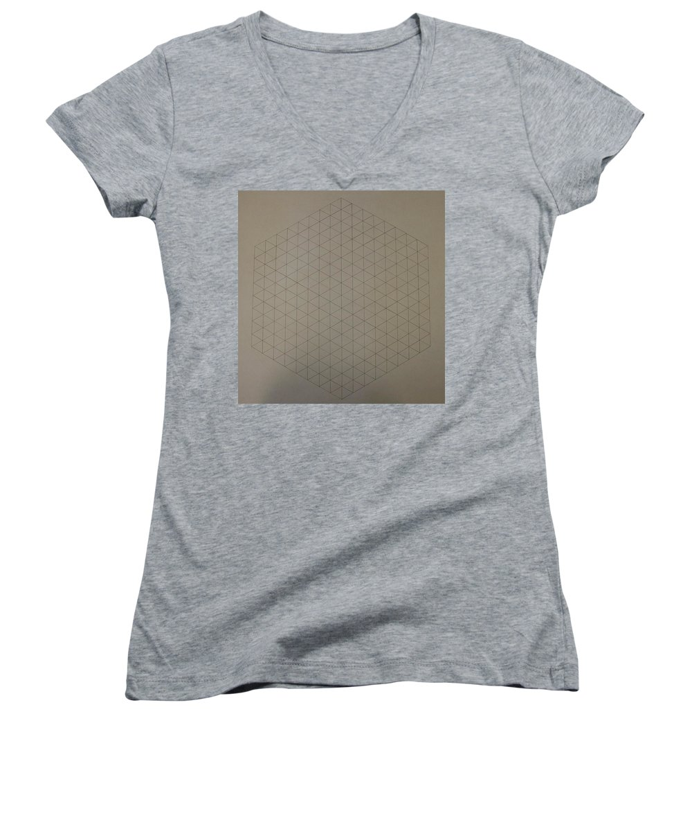Math Women's V-Neck T-Shirt featuring the drawing Two To The Power Of Nine Or Eight Cubed by Jason Padgett