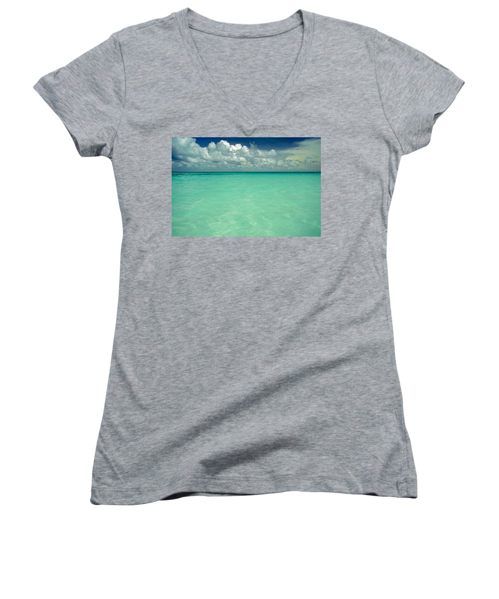 Belize Women's V-Neck (Athletic Fit) featuring the photograph Heaven by Skip Hunt