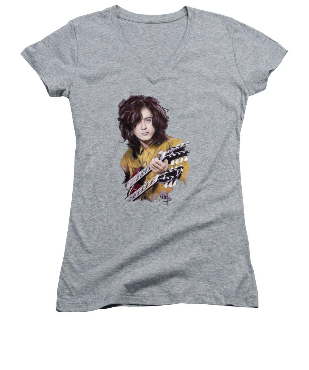 Led Zeppelin Women's V-Neck T-Shirts