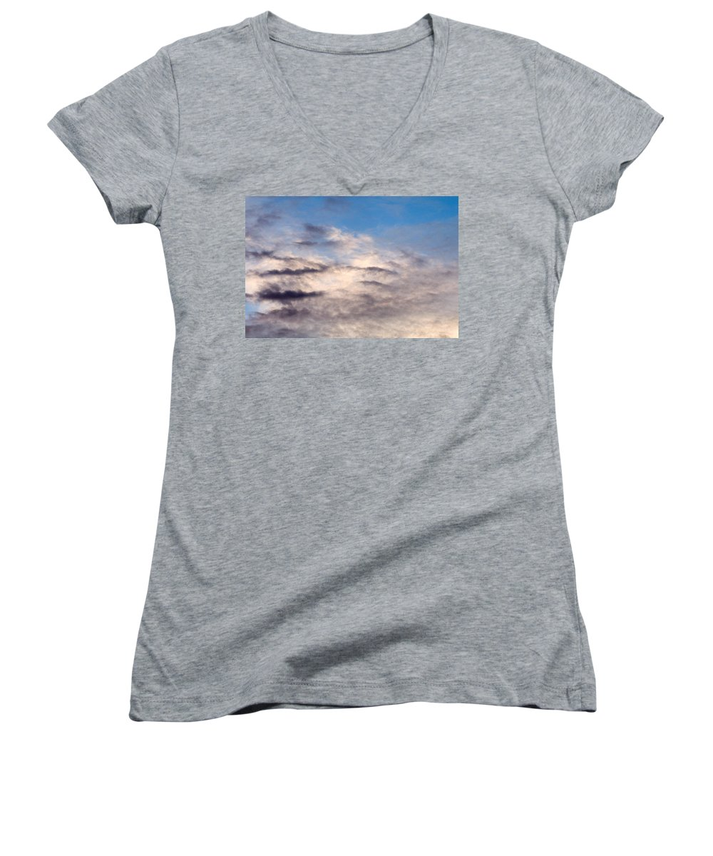 Clay Women's V-Neck T-Shirt featuring the photograph Clouds by Clayton Bruster