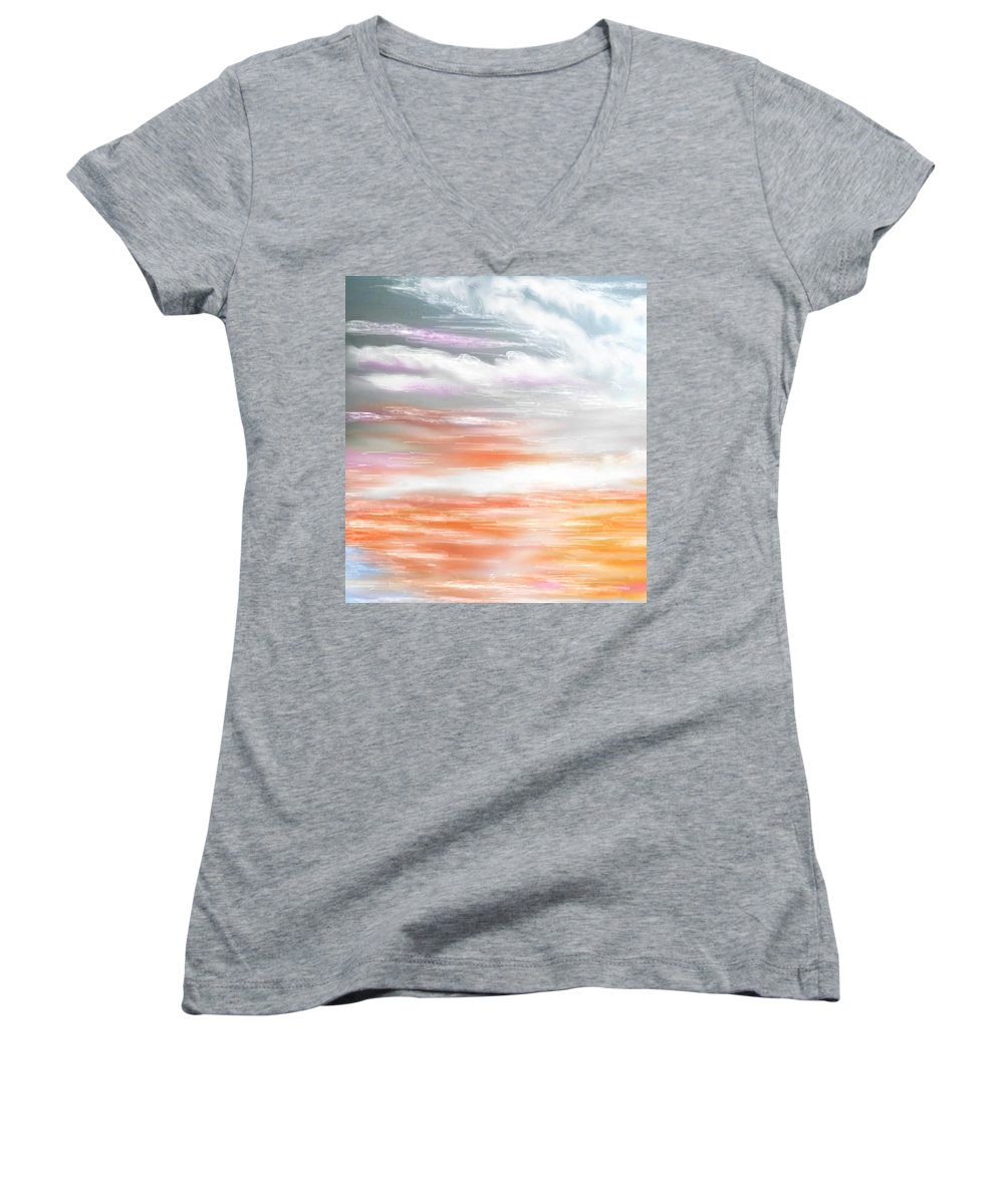 Inspirational Art Women's V-Neck (Athletic Fit) featuring the digital art A Light Unto My Path by Brenda L Spencer