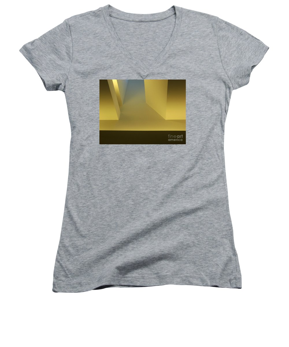 Yellow Women's V-Neck T-Shirt featuring the photograph Above Series 4.0 by Dana DiPasquale